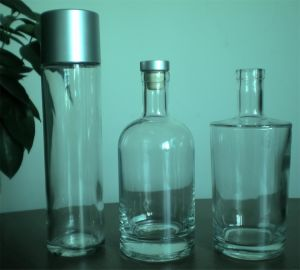 Frasco de vidro/ Garrafa de vodka/ Garrafa de Vinho/garrafa de água/garrafa de licor negro
