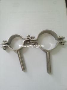 Medidas sanitarias de acero inoxidable DIN con varilla de soporte de tubo redondo