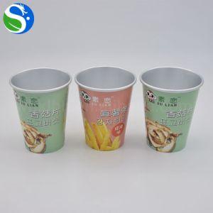 El papel de aluminio recubierto de papel de alimentos la taza con tapa de sellado