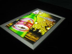 Châssis en aluminium Custom-Made Snap tissu PVC Ascenseur Ascenseur enseigne publicitaire Boîte à lumière
