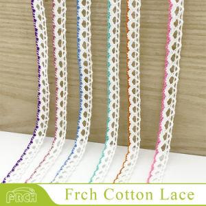 Bestsale標準的なさまざまなカラー編みこみの装飾の綿織物の端のトリムのレース