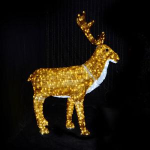 屋外のクリスマスの庭の装飾のトナカイLEDの休日ライト