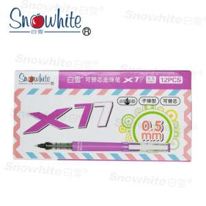 Flüssige Tinten-Rollen-Kugel-Feder X77 mit Snowhite Marken-Büro-und Schule-Zubehör ODM-Soem Serives