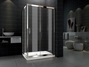 Gemakkelijke Schone Schuifdeur 6mm de Bijlage van de Zaal van de Douche van de Badkamers van het Glas