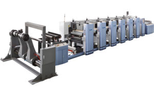 FM-B1020 4 Colors Flexo Printing Machine con Wax Coating