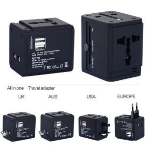 Nueva Au/US/UK/UE Cargador de viaje con salida USB 2 2100mA
