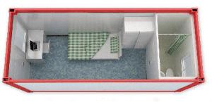 Het geprefabriceerde Modulaire Huis van het Structurele Staal voor Bouwwerf