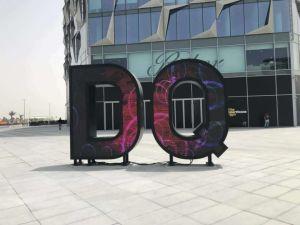 Lettre de l'écran numérique DEL créatif pour publicité de plein air