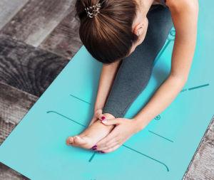 La mujer EVA de espuma de confort Fitness estera del yoga para el ejercicio