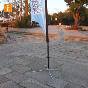 Фестиваль флаг, с одной стороны печати под флагом перо (TJ-RSH-2)