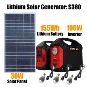 100W de energía solar generador de energía para el hogar/Camping
