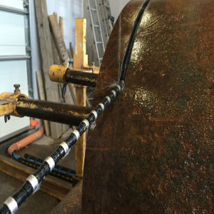 Fil diamanté pour la coupe de génie civil de béton et béton armé