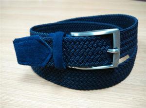 女性のための新しい方法Ployesterの伸縮性がある編みこみのベルト