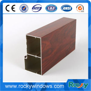 Impresión de transferencia de grano de madera de la fábrica de perfiles de aluminio