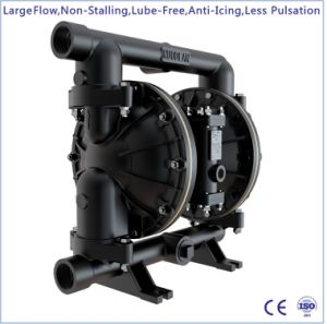 1-1/2  großer Fluss-pressluftbetätigte doppelte Aluminiummembranpumpe