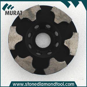 4  /5  /7  di disco abrasivo della mola della tazza del diamante di segmento di T per la pietra