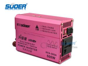 Suoer fusible externo 500W 12V DC a AC 230V Alquiler de inversor de potencia (KFA-500A)