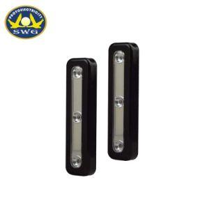 熱い販売新しいデザインプラスチック細長い形3LED押しライト
