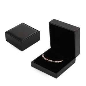 Contenitore di regalo di cuoio dell'imballaggio del gemello del braccialetto del presente del ricordo della casella di memoria dei monili del velluto (YSP135)