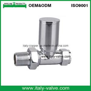 valvola d'ottone cromata di lucidatura del radiatore di 1/2  (AV3090)