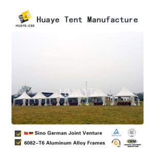 8x8m Marquee Pagoda caso tenda e Galpão de PVC de casamento branco