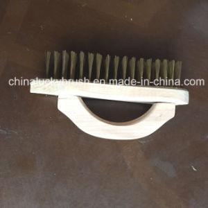 Wood quadrato Board Steel Wire Brush con Handle (YY-499)