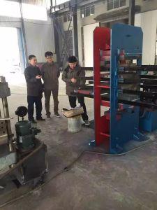 Automatische Gummiblockierenziegelstein-Maschinen-Gummifliese-Presse