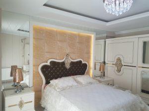 Декоративные 3D из натуральной кожи для современной спальне стены оформлены
