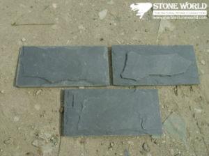 De zwarte Tegels van de Lei voor Muur/Bevloering (mm099)
