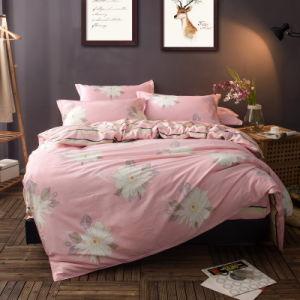 O tecido de algodão barato edredão cobrir Bedsheet extras definidos