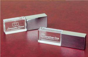Настраиваемый логотип Crystal перо диск USB с индикатором