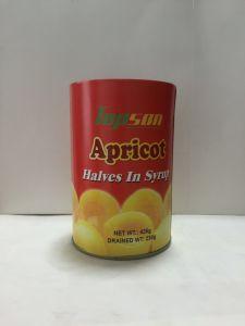 軽いシロップの缶詰にされた杏子