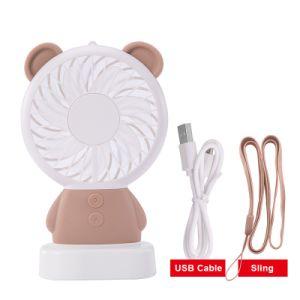 2018 Novo Design de coelho Barato preço Ventilador Mini USB portátil com LED