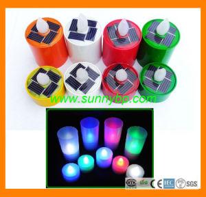 Muiticolor LED Solarkerze-Licht für Stab