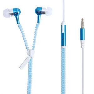 В ухо модных металлические молнии для мобильного телефона для наушников