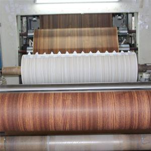 Красный зерна из тикового дерева меламином пропитанная бумага для ДСП (8166-1)