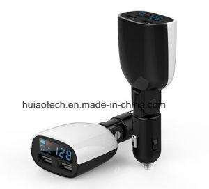 Nuovo caricatore superiore dell'accenditore della sigaretta dell'automobile con la porta del USB e la visualizzazione di LED per percorso adatto di GPS dell'automobile di tensione, automobile DVR, telefono, macchina fotografica di Digitahi, regolatore dell'automobile