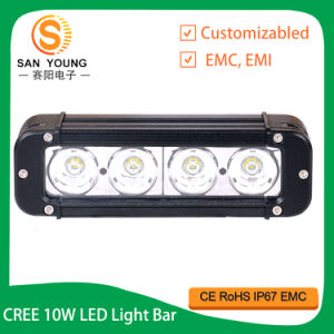 "8 "" IP68 imperméabilisent la barre simple d'éclairage LED de rangée du CREE 40W"
