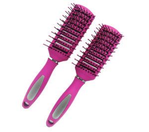 9Las filas de ventilación de plástico el cepillo de pelo estilo