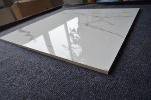 Com vidro polido em mármore branco Carara ladrilhos de porcelana de tamanho padrão