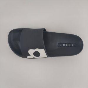 La moda de PVC negro Venta caliente Zapatilla de hombre zapatos y zapatos de mujer