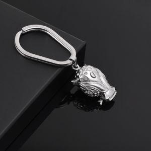 記念品のためのステンレス鋼のフクロウの形の火葬の壷Keychains