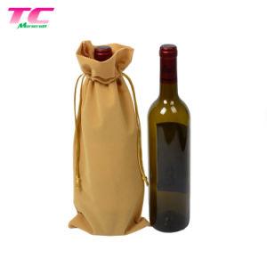 Verpackungs-Baumwollsegeltuch-Wein-Flaschen-Boots-Beutel für Erhöhung-Wert