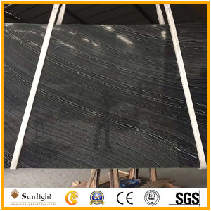 Floor Wallのための中国のPopular Antique Black Wood Marble Tiles