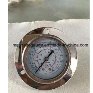 軸台紙のグリセリンのフランジが付いている冷却する圧力計