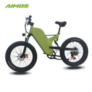 Bici elettrica di viaggio della sospensione della gomma grassa piena della montagna