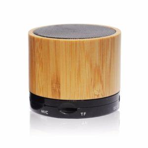 Wireless Mini Altavoz de madera Madera de bambú Popular con la función de altavoz Bluetooth