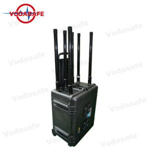 La construcción de la batería recargable del bloqueador de la señal de teléfono móvil con seis antenas el total de 400W
