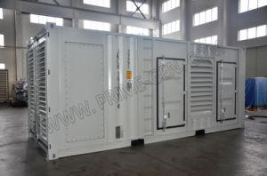 750kVA Cummins ha alimentato l'insieme di generazione diesel insonorizzato altamente personalizzato con la Banca di caricamento automatica interna