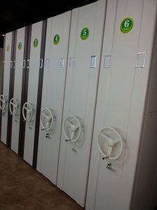 Fichier mobile manuel de rayonnages mobiles des étagères de dépôt/étagère compact/bureau étagère/meubles en acier